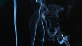 Rauch auf schwarzem Hintergrund stock video footage