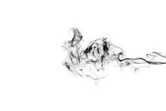 Rauch auf weißem Hintergrund lizenzfreie stockfotos