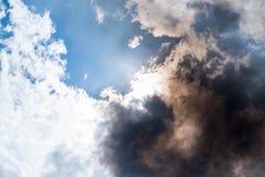 Rauch, der herein vereinbart Stockfotografie