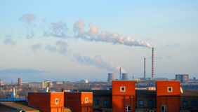 Rauch in der Stadt Lizenzfreie Stockfotos