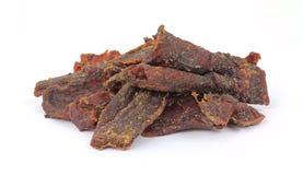 Rauch gewürztes Trockenfleisch vom Rind Lizenzfreies Stockbild