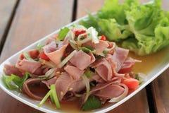 Rauch Ham Spicy Salad Stockbilder