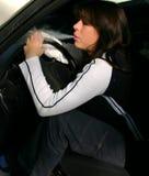 Rauch im Auto stockfotos