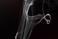 Rauch im Schwarzen Lizenzfreies Stockfoto