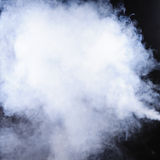 Rauch lokalisiert auf Schwarzem Lizenzfreie Stockfotografie