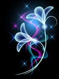 Rauch mit transparenten Blumen lizenzfreie abbildung