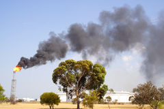 Rauch und Feuer Stockbilder