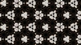 Rauch verbreitet im Raum und bildet eine komplexe geometrische Struktur von Zellen, einen caledoscope Effekt von Rauchströmen 3d vektor abbildung
