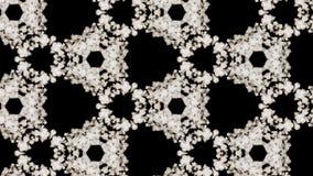 Rauch verbreitet im Raum und bildet eine komplexe geometrische Struktur von Zellen, einen caledoscope Effekt von Rauchstr?men 3d stock abbildung