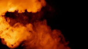 Rauch-Verbreitungshintergrund des Feuers brennender stock footage