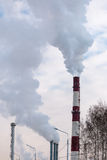 Rauch vom Kamin Lizenzfreies Stockfoto