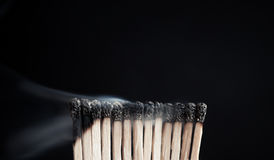 Rauch vom Match Lizenzfreie Stockfotografie