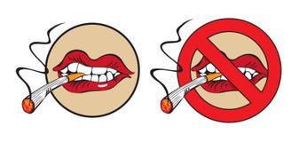 Rauchen Sie nicht. Platzieren Sie für Lizenzfreie Abbildung