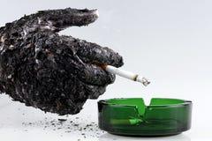 Rauchende Abbrüche Lizenzfreies Stockbild