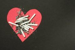 Rauchende Abbrüche Stockbild
