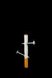 Rauchende Abbrüche Stockfoto