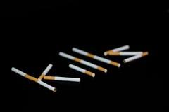 Rauchende Abbrüche gewinkelt Lizenzfreies Stockfoto