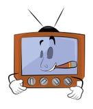 Rauchende Fernsehkarikatur Lizenzfreies Stockbild
