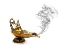 Rauchende Geist-Lampe Lizenzfreies Stockfoto