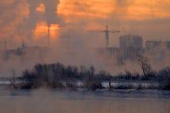 Industrieller Morgen lizenzfreie stockfotos