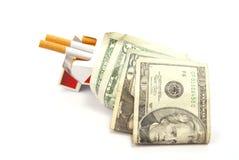 Rauchende Kosten Stockfoto