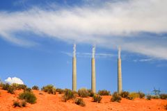 Rauchende Wüste Lizenzfreies Stockbild