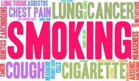 Rauchende Wortwolke stock abbildung