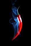 Rauchender heißer rote Paprika-Pfeffer Lizenzfreie Stockbilder