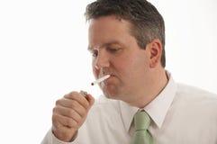 Rauchender Mann Lizenzfreie Stockfotos