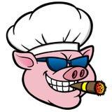 Rauchendes BBQ-Schwein Lizenzfreies Stockfoto
