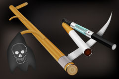 Rauchendes Tötungskonzept Stockfotografie