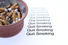 Raucher beendet zu rauchen Lizenzfreies Stockbild