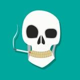 Raucherschädelikone Lizenzfreies Stockbild