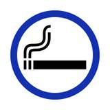 Raucherzonezeichen auf weißem Hintergrund Lizenzfreie Abbildung