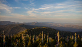 Rauchige Berge Vista Stockfotografie