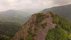 Rauchige Berge von der Luft stock video footage