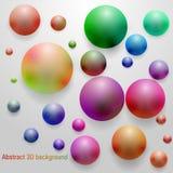 Rauchiger farbiger glatter Bereich 3D Lizenzfreie Stockfotografie