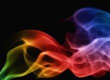 Rauchregenbogen auf schwarzem Hintergrund Lizenzfreie Stockbilder