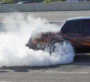 Rauchshow lizenzfreie stockfotos