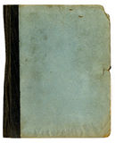 Raue alte Schule-Faltblatt-oder Notizbuch-Beschaffenheit Stockfoto