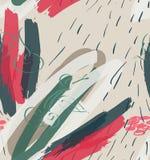 Raue Anschläge und Kirsche der Markierung auf der Creme gemasert stock abbildung