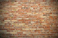 Raue Backsteinmauer Lizenzfreie Stockfotos