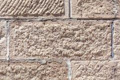 Raue Beschaffenheit der grauen konkreten Backsteinmauer, Bau Stockfotografie