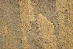 Raue gelbe Sandsteinplatte Stockbilder