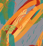 Raue orange Anschläge und Kirsche der Markierung gemasert vektor abbildung