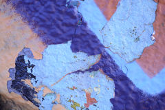 Raue strukturierte blaue Wand Stockfotografie
