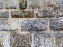 Raue strukturierte Sandstein-Block-Wand Lizenzfreies Stockbild