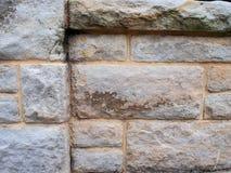 Raue strukturierte Sandstein-Block-Wand Stockfoto