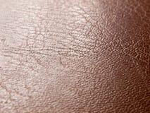 Raue und glatte Beschaffenheit des braunen des Leders Abschlusses oben Stockfotos