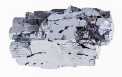 rauer Galena (galenite) Kristall auf Weiß stockfoto